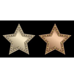 Star plaque vector image vector image