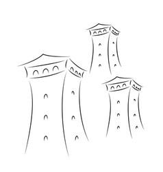svan towers in georgia vector image