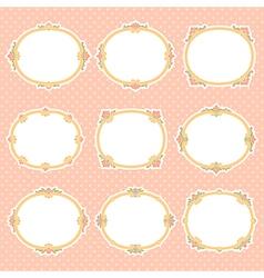 Vignette frames color vector
