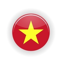 Vietnam icon circle vector
