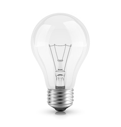 Realistic light bulb vector