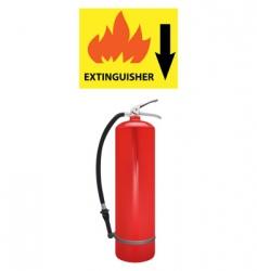 extinguisher vector image