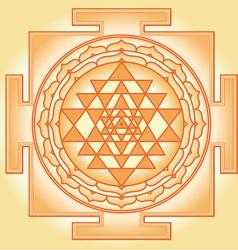 Shri Chakra Yantra vector image