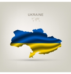 Flag of ukraine as a country vector