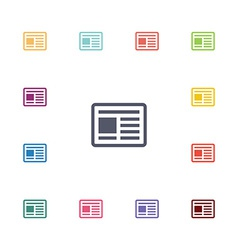 News flat icons set vector
