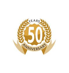 50 years ribbon anniversary vector
