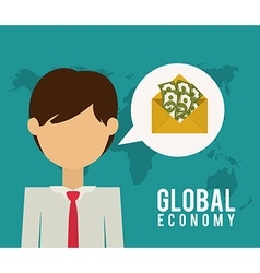 Global economy design vector