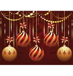 Decorative gold xmas balls6 vector