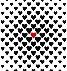 The only one loved - seamless heart pattern vector
