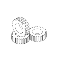 Tire pile icon isometric 3d style vector