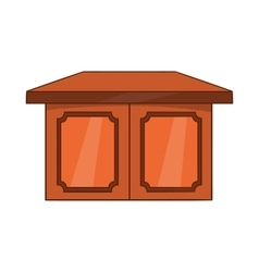 Table for living room icon cartoon style vector