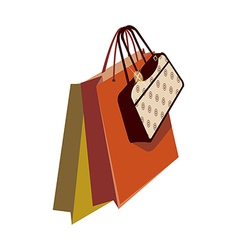 A shopping bag vector image vector image