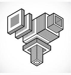 abstract isometric construction vector image vector image