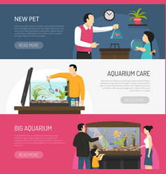 Aquarium banners set vector