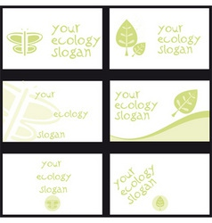 business card ecology vector image