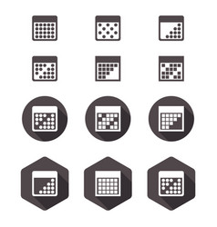 Calendar flat icon set vector