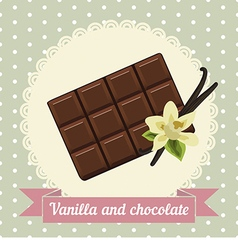 Chocolate and vanilla flower vector