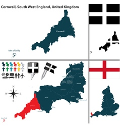 Cornwall south west england vector