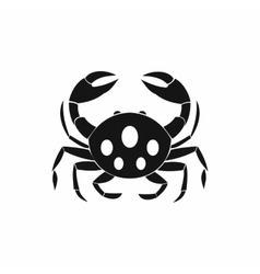 Crab icon simple style vector image