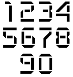display numbers vector image vector image