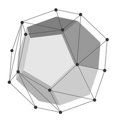 Dodecahedron geometry shape vector