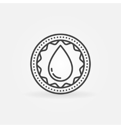 Donate blood linear badge vector