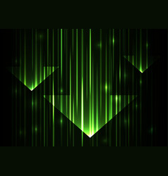 green arrow abstract technology background vector image vector image