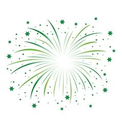 green firework vector image vector image