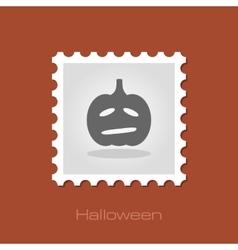 Halloween pumpkins stamp vector image