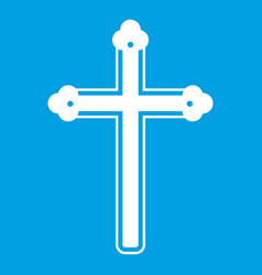 holy cross icon white vector image