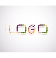 Logo word font design vector image