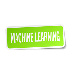 Machine learning square sticker on white vector