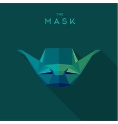 Mask villain into flat style graphics art vector
