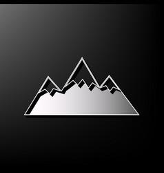 Mountain sign gray 3d vector
