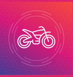 Offroad bike motorcycle linear icon vector