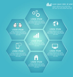 Polygon for business plan design template for your vector image