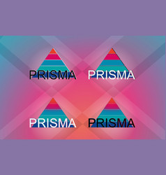 Prisma logotypes vector