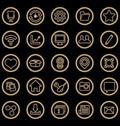 set of web icons for design vector image vector image