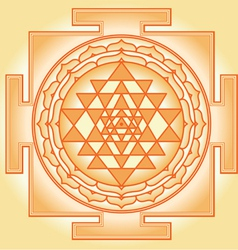 Shri Chakra Yantra vector image vector image