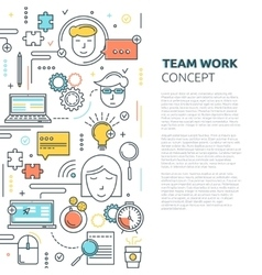 Team Work Vertical Linear Concept vector image vector image