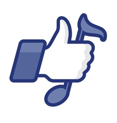 Thumbs Up icon with note vector image