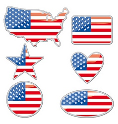 USA placards vector image vector image