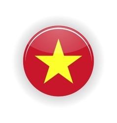 Vietnam icon circle vector