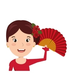 Woman cartoon dancer flamenco design vector