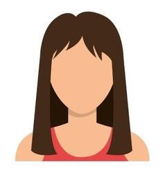 Young woman with brown hair vector
