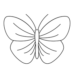 Butterfly with strip icon outline style vector