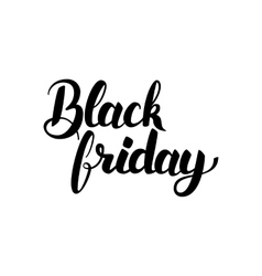 Black friday hand drawn lettering vector