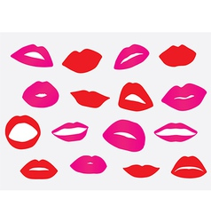 Red and pink lips vector