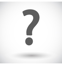 Question mark single icon vector