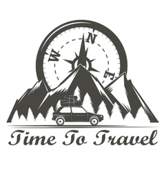 Wilderness travel emblem vector